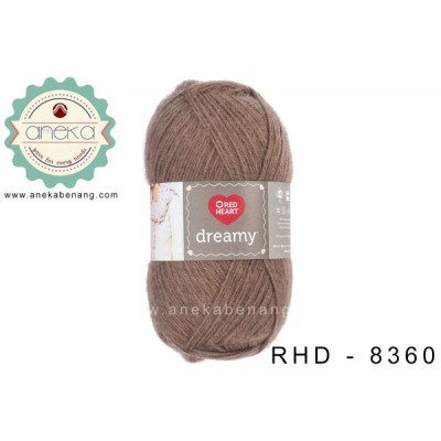 Red Heart Dreamy #8360 (Dark Taupe)