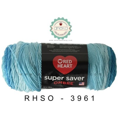 Red Heart Super Saver Ombre #3961 (Scuba)