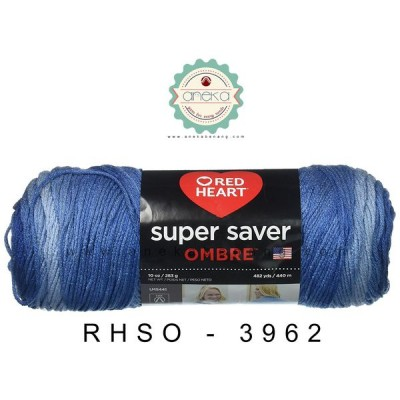 Red Heart Super Saver Ombre #3962 (True Blue)