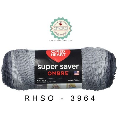Red Heart Super Saver Ombre #3964 (Athracite)