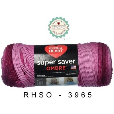 Red Heart Super Saver Ombre #3965 (Anemone)