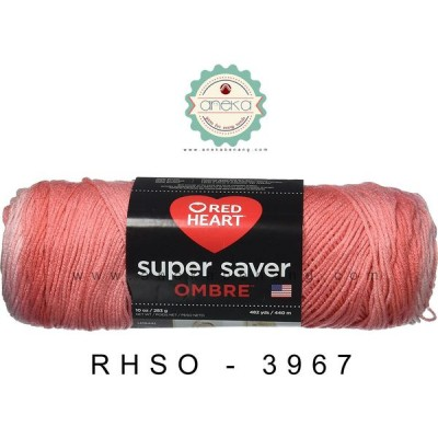 Red Heart Super Saver Ombre #3967 (Sea Coral)