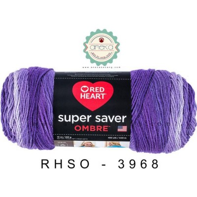 Red Heart Super Saver Ombre #3968 (Purple)