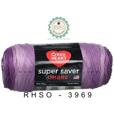 Red Heart Super Saver Ombre #3969 (Violet)