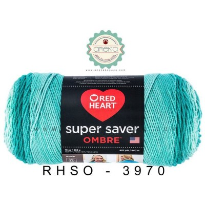 Red Heart Super Saver Ombre #3970 (Spearmint)