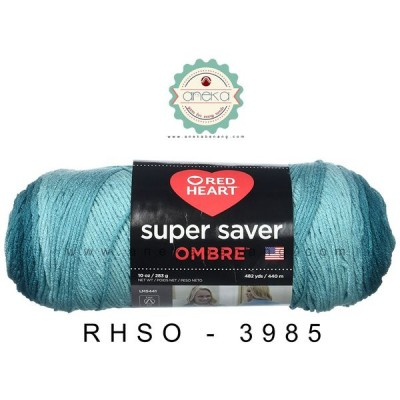 Red Heart Super Saver Ombre #3985 (Deep Teal)