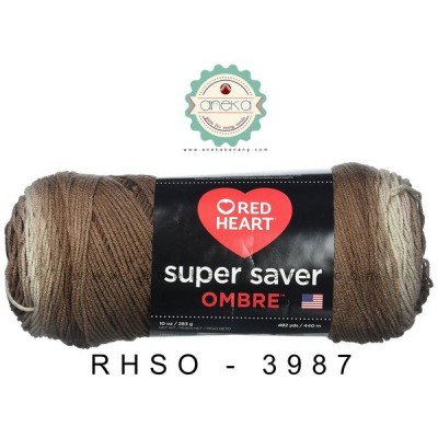 Red Heart Super Saver Ombre #3987 (Cocoa)