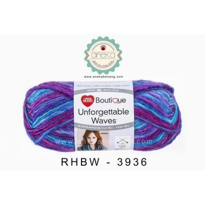 Red Heart Boutique Unforgettable Waves #3936 (Grapeberry)