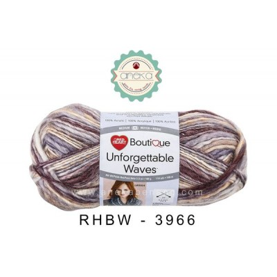 Red Heart Boutique Unforgettable Waves #3966 (Spices)