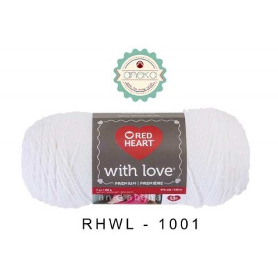 Red Heart With Love #1001 (White)
