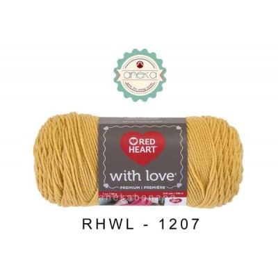 Red Heart With Love #1207 (Cornsilk)
