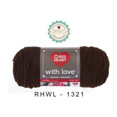 Red Heart With Love #1321 (Chocolate)