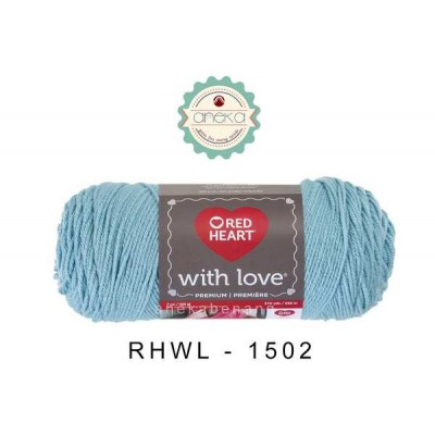 Red Heart With Love #1502 (Iced Aqua)