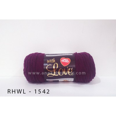 Red Heart With Love #1542 (Aubergine)