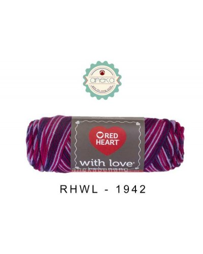 Red Heart With Love # 1942 (Plum Jam)