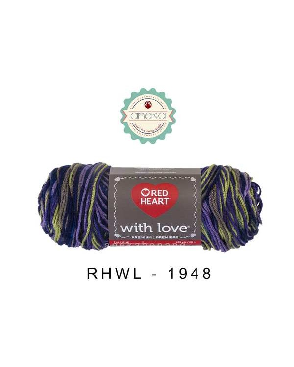 Red Heart With Love #1948 (Lavender Ivy)