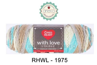 Red Heart With Love Stripes #1975 (Sandbar Stripe)