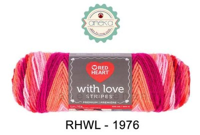 Red Heart With Love Stripes #1976 (Passion Stripe)