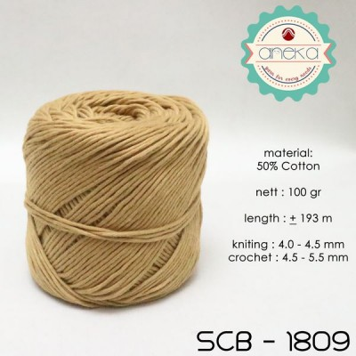 Benang Rajut Katun Bali / Soft Cotton Big Ply - 1809 (Krem Tua)