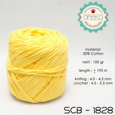 Benang Rajut Katun Bali / Soft Cotton Big Ply - 1828 (Kuning)