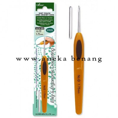 Hakpen (Alat/Jarum Rajut) Clover Soft Touch Steel / Lace Crochet Hook - PCS