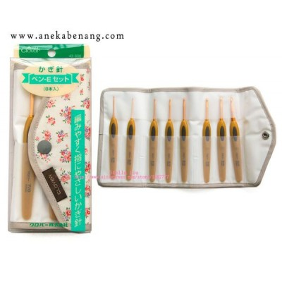 Hakpen (Alat/Jarum Rajut) Clover Soft Touch Crochet Hook - SET