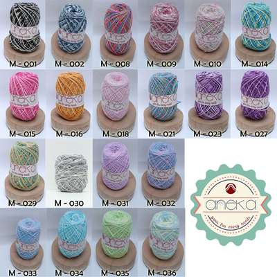 KATALOG - Benang Rajut Katun Mambo / Sembur / Mix-color Cotton Yarn