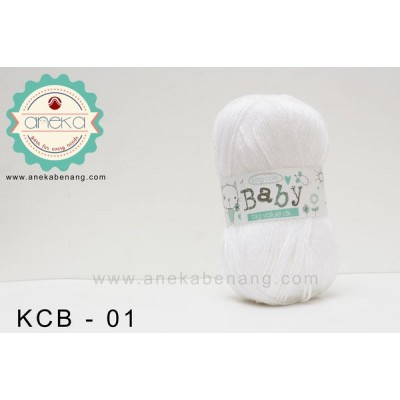 Benang Rajut King Cole - Baby Big Value DK #01 (White)