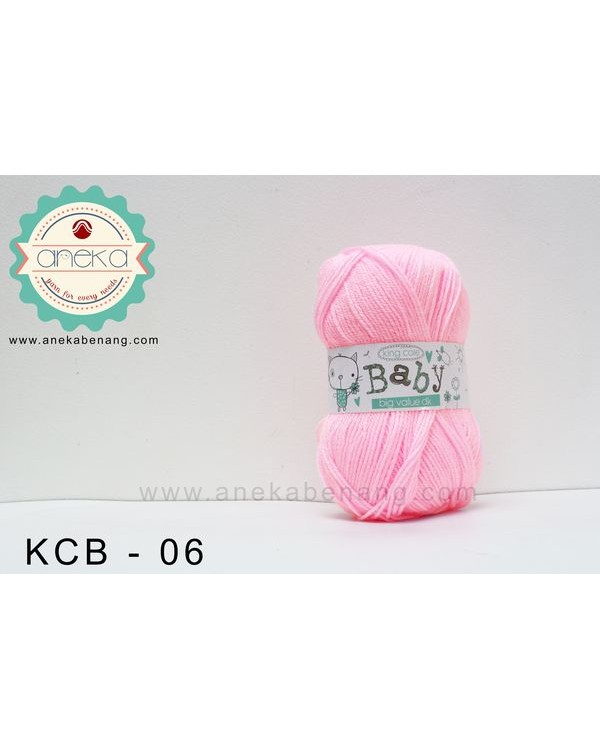 Benang Rajut King Cole - Baby Big Value DK #06 (Pink)
