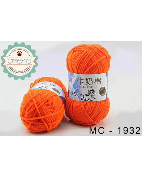 Benang Rajut Milk Cotton - 1932 (Orange)