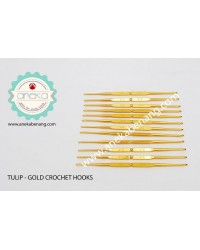 Hakpen (Jarum Rajut) Tulip Gold / Double Pointed Crochet Hooks Alumunium