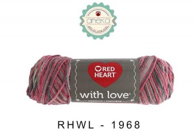 Red Heart With Love #1968 (Delightful)