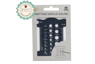 Alat Ukur Jarum Rajut / Knitting Needle Gauge Tulip Amicole